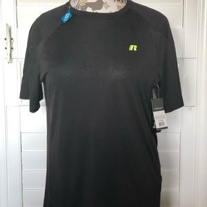 Russell Athletic Shirts - Russell Men's Black Tee Shirt Size M (38-40)